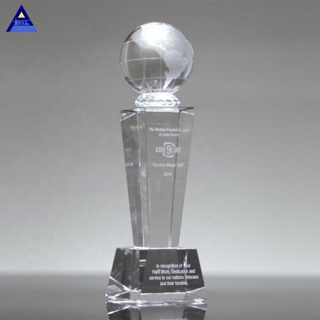 2019 Hot Sell New Product Heavyweight Galaxy Crystal Globe Trophy