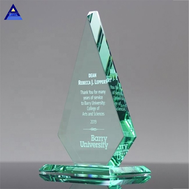 Laser Etched Glass Arrowhead Award Trophy,Wholesale Customise Crystal Trophy