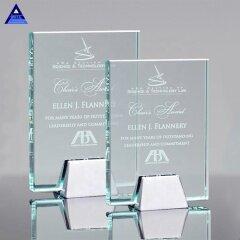 Exclusive Unique Design Beautiful Crystal Glass Jade Award