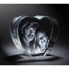2021 Crystal Blank 3D Laser Wedding Gift Heart Shaped 3D Photo Crystal block