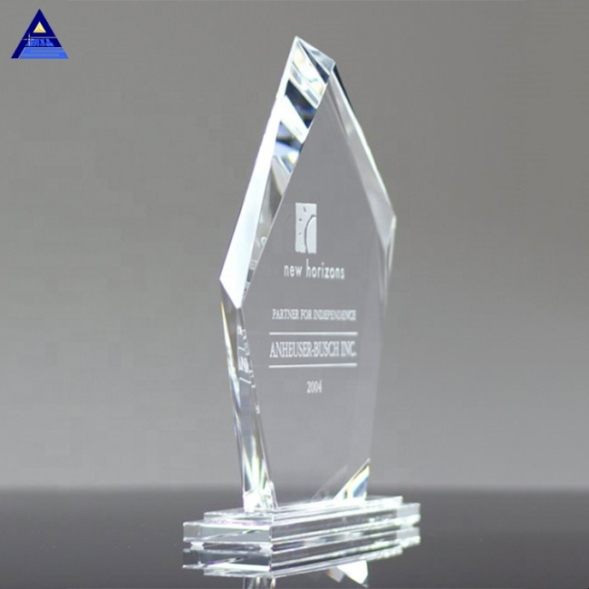Top Selling Products Clear Custom Shaped Metro Crystal Trophies And Awards For Souvenir Gift