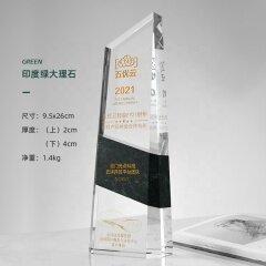 Logo gravé personnalisé Plaque de cristal noir et clair Bloc Bouclier Couronne Obélisque Cristal Trophée Prix