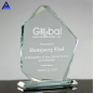 Factory Wholesale Customized Logo Jewel Beveled Jade Glass Crystal Award Trophy For Sublimation