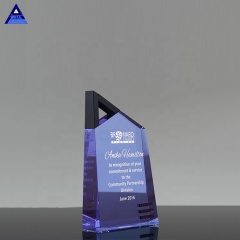 Technique Ascent Crystal Paperweights For Company Logo Engraving