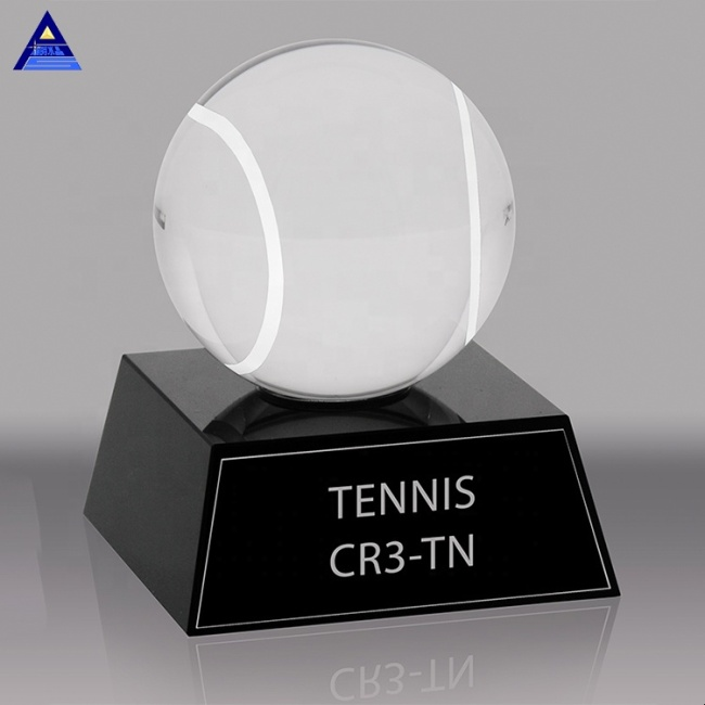 Basketball Football Baseball Tennis Ball Volleyball K9 Crystal Sports Trophy For Souvenir Gift