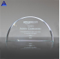 Wholesale Exquisite Style Customized Crystal Half Moon Crescent Jade Award Trophy