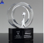 2019 Newest Crystal Gift Crystal Award Trophy Clear Glass Trophy Award