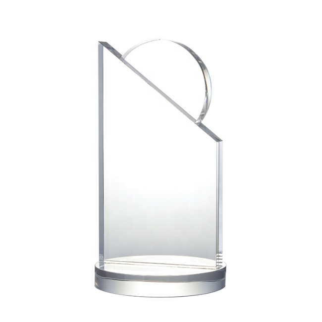Yiwu Supplier Wholesale Hot Sale Luxury New Glass Customize Blank Trophy For Souvenir Memorial Events