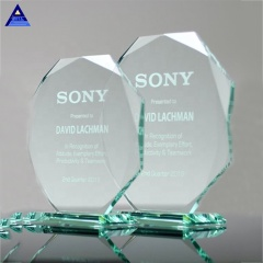 2020 Newest Style China Wholesale OEM Service Crystal Luxury Jade Glass Tower Award