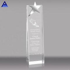 12 Years Graduation Gifts Star Pillar Laser Crystal Award Crystal Trophy