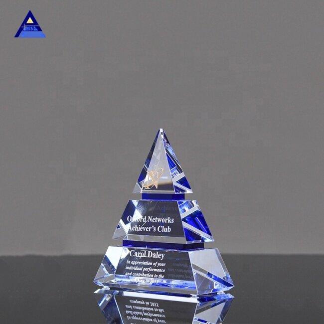New Custom Pyramid Cone Glass Optical Crystal Art Award Trophy