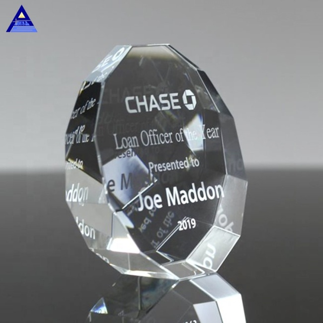 Wedding Guest Souvenir Crystal Glass 3D laser Straight Edge Crystal Trophy Paperweight Gifts
