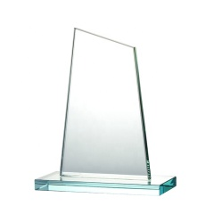 Wholesale Cheap Shield Jade Glass Plaque Trophy K9 Glass Crystal Award For Souvenir
