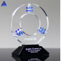 Factory Supply Customized Recognition Corporate Crystal Awards Galaxy Quest Award Plaques With Black Base
