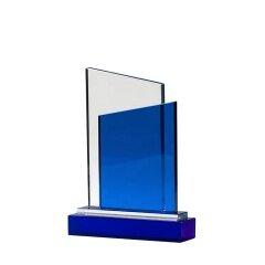 Blue Crystal Medal K9 Crystal Trophy Medal Glass Awards Wholesale