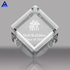 China Alibaba Golden Supplier Custom Clear 3D Photo DIY Rotate Crystal Cube For Christmas Gift
