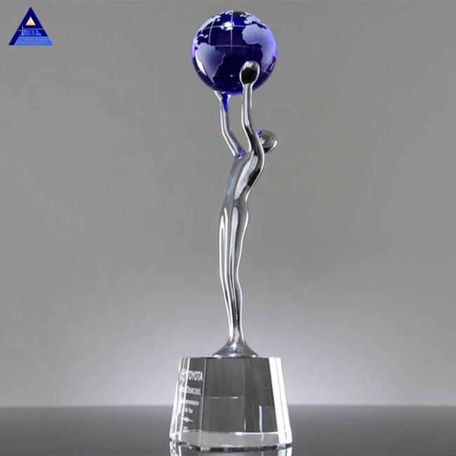 Hot Selling Cheap Achievement World Globe Paperweight,Round Glass Earth Globe