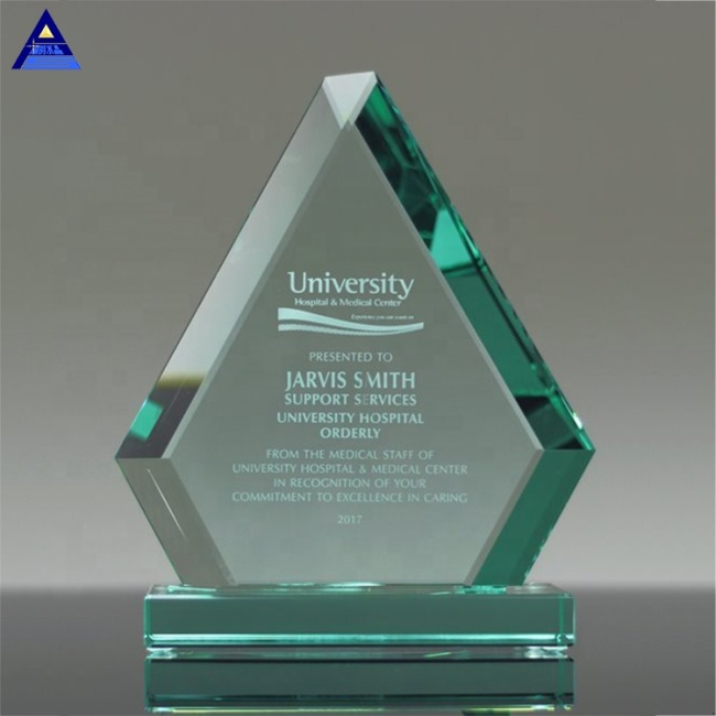 Cheap High Quality Demi Diamond Jade Crystal Glass Award Tropy For Sale