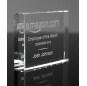 Custom Laser Engraving Newest Rectangle K9 Glass Crystal Trophy