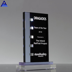 2019 Pujiang New High Quality Custom Designs Glass Award Crystal Trophy Blanks Plaque