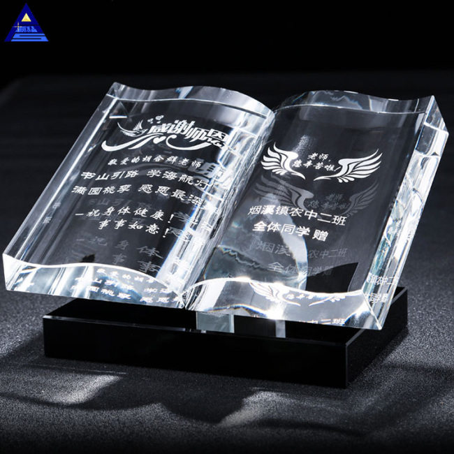 Elegant Engraving Muslim Gifts Quran Book Mini Wedding Crystal Islamic Gift For Guest Takeaway Souvenir Crystal Glass Book