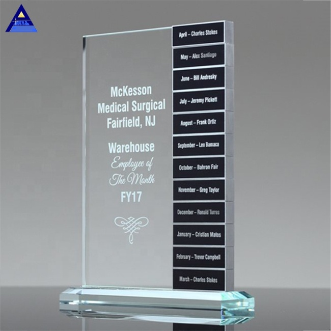 Cheap Price Award Plaques Style Jade Glass Awards Wholesale