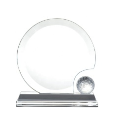 Professional Crystal Golf Crystal Trophy And Award With Ball Shape Mental Crystal Trophy