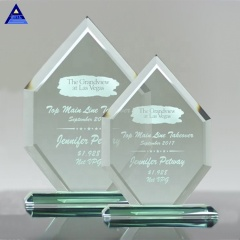 Wholesale Cheap Gift Engraved Plaques Liberty Diamond Jade Glass Award