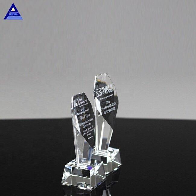 Fashion Creative Unique Design Clear Crystal Trophy Blanks