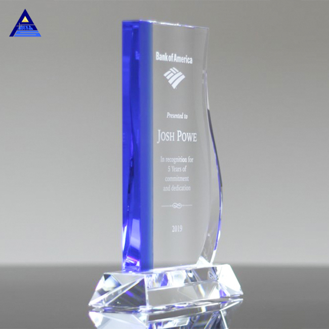 2019 Customized Clear Avant Crystal Plaque Glass Award With Base