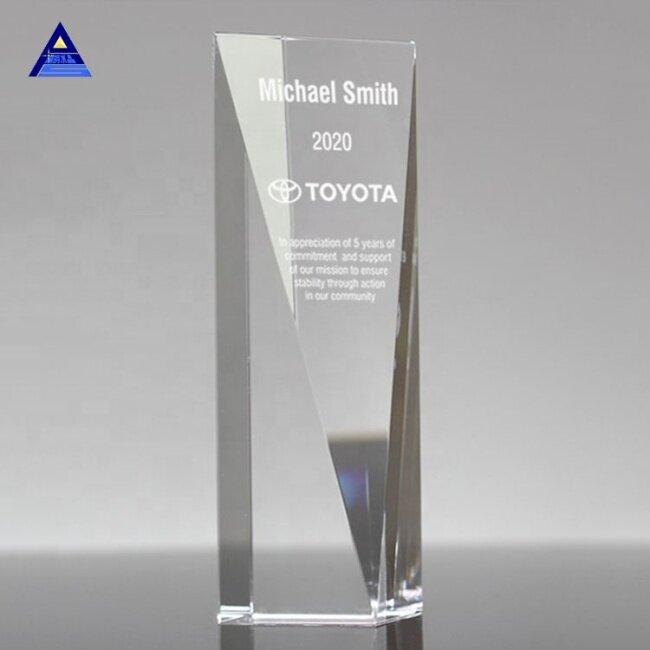 Cheap New Design Crystal Obelisk Glass Trophy Award For Souvenir Gifts