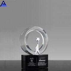 2019 Newest Crystal Gift Crystal Award Trophy Clear Glass Trophy Award