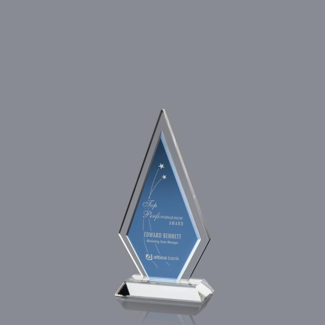 2020 Latest Promotion Price New Design Face Crystal Flame Shape Awards for Doctor