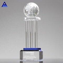 Big Clear Crystal Globe Award With Wedding Gift Glass Earth World Map Globe