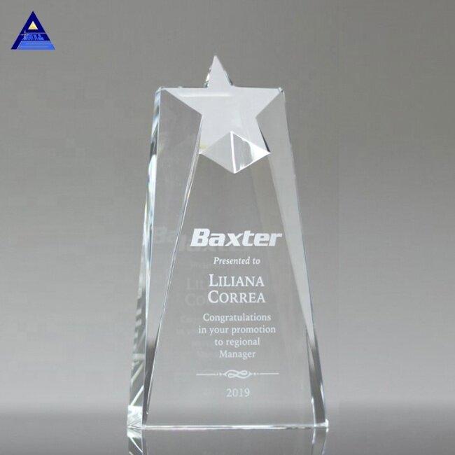 Wholesale Custom Hot Selling Crystal Trophy Star Award In Pujiang