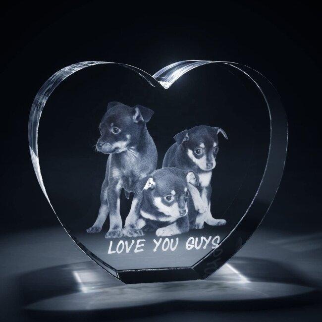 Heart Shaped 3D Photo Crystal
