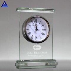 Spot Wholesale Transparent Movado Crystal Quartz Desk Clock