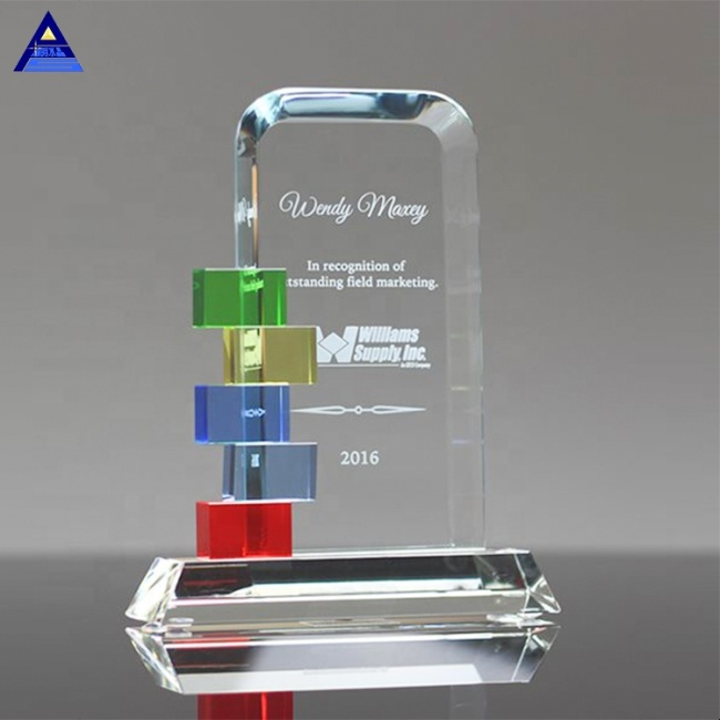 Customized Logo Carving Craft Gifts 3D Laser Engraving Crystal Blocks