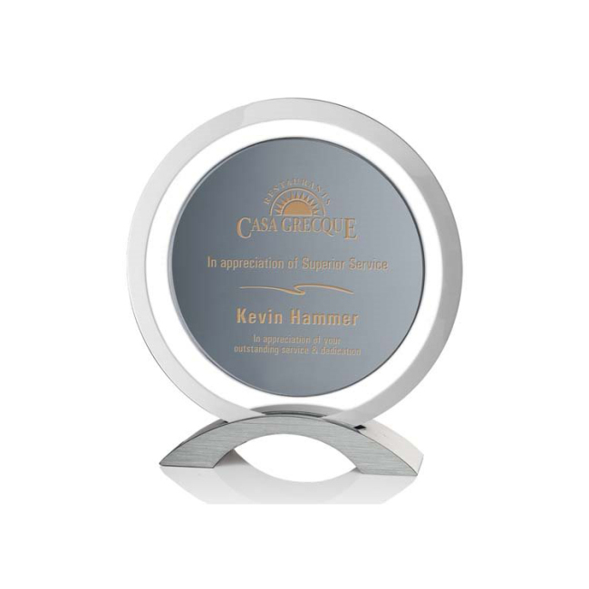 High quality whosale round laser engraved crystal trophy K9  Clear Crystal Trophy