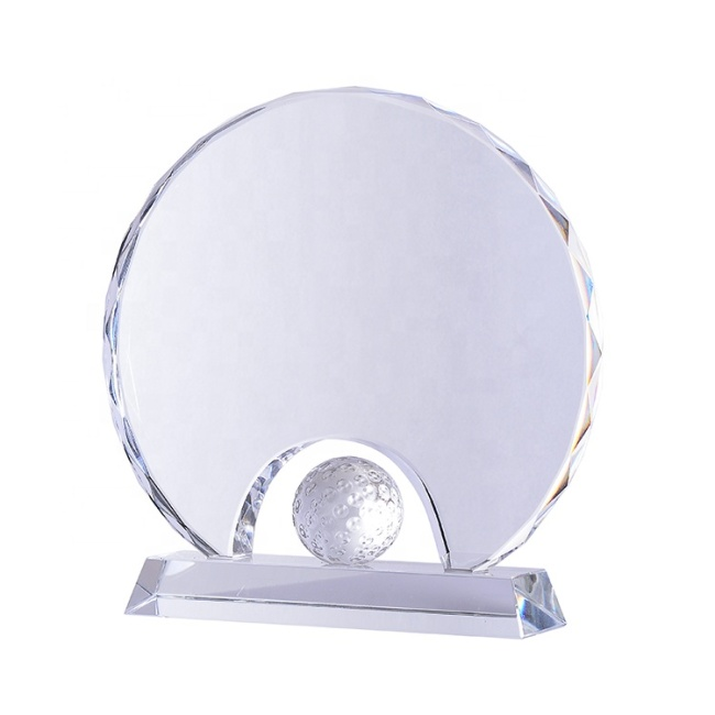 Hand Holder Design Crystal Golf Ball Trophy Awards For Golf Tournament Souvenirs