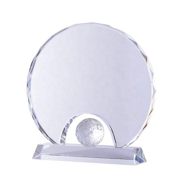 Hand Holder Design Crystal Golf Ball Trophy Awards For Golf Tournament Souvenirs