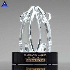 2019 Unique Customized World Teamwork Crystal Award Trophy