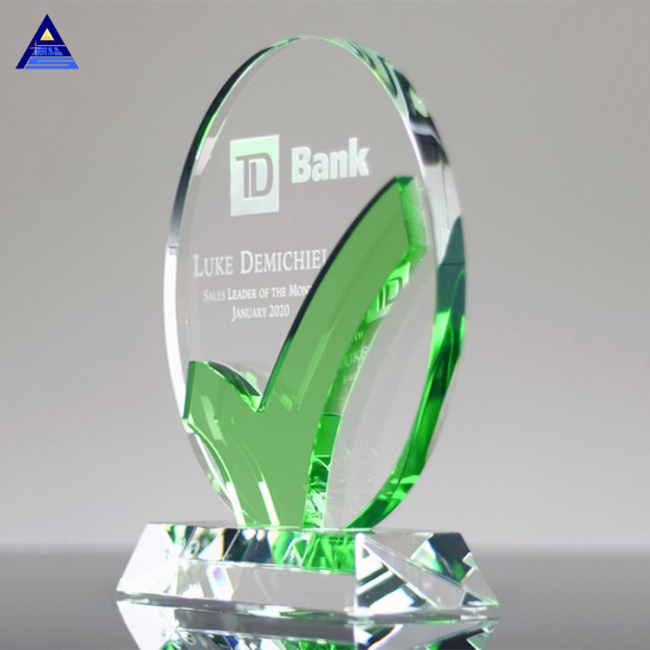 Manufacturers Crystal Awards Plaque For Custom Logo Engraving