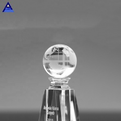 Wholesale Newest Exalted Custom Crystal Glass Vantage Globe Award Trophy