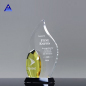 High Quality Clear Flame Shape Newest K9 Crystal Blank Trophy