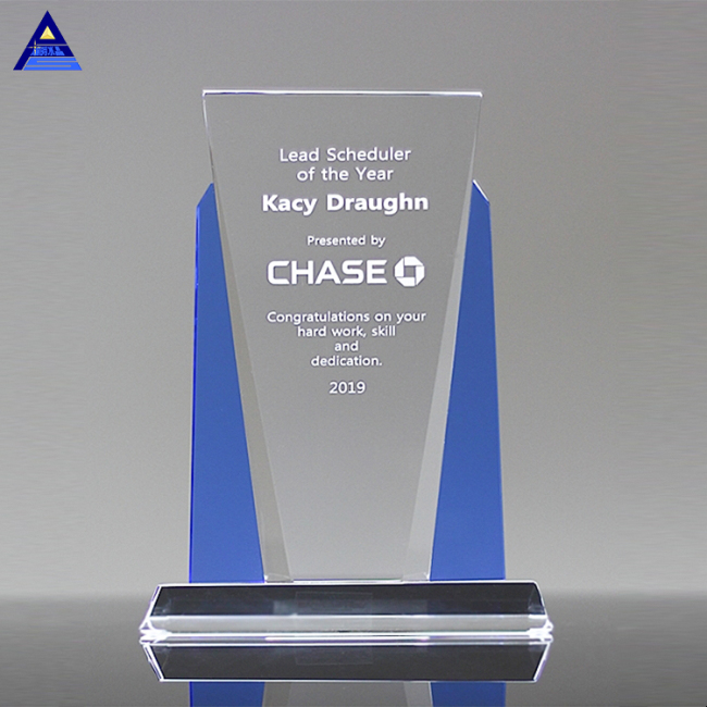 New Design Color Cheap Glass Trophy Award For 15Th Wedding Anniversary Gifts
