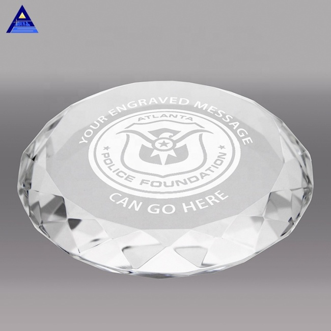 New Products Custom Hemisphere Dome Crystal Glass Paperweight For Souvenirs Gifts