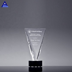Factory Wholesale Clear Large Crystal Triumph Award European Cup Trophy