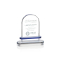 Clear Crystal Trophy Faceted Shine Paperweight With 3D Laser Engraving Cube Souvenir Transparent Flame Crystal Award