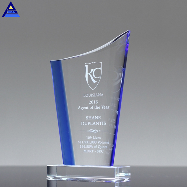 High Quality Cheap Custom Modern Design Business Crystal Award Trophy K9 Art Crystal Trophy Gift Craft